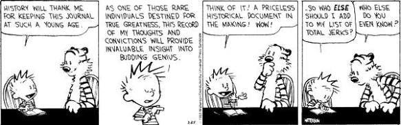Calvin and Hobbes on journals