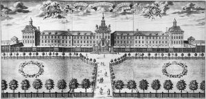 Bethlem [Bedlam] Hospital. John Thoresby suggested his son could draw it.
