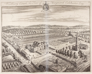 Westbury Court house and gardens, 1720