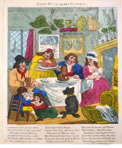 T. Ovenden, John Bull in his Glory, Hand-coloured engraving, dimensions and publisher not known but probably London, 1793, now in the Library of Congress collection.