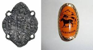The early modern pilgrim badge and its modern walking stick equivalent?