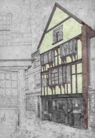 Exeter's Goldsmith's Street as it once was.