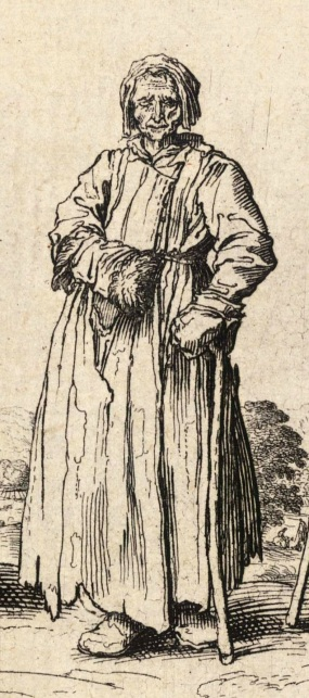 From Wenceslaus Hollar, 'Men and Women Beggars' (1625-77)