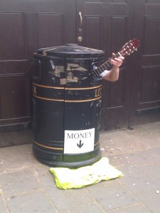Cambridge bin busker