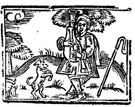 A renegade piper rampaging through the English countryside?