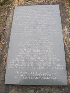 Norwich's martyrs memorial
