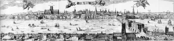 Panorama of London 1616, Claes Van Visscher