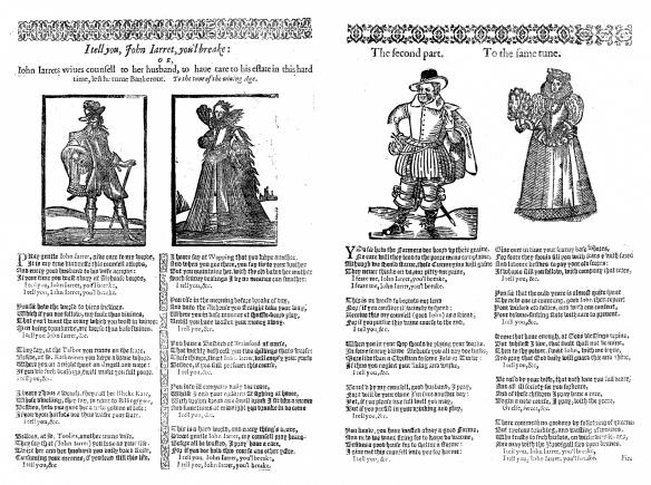 The 1630 ballad, 'I tell you, John Iarret, you'l breake', Pepys, 1.70-1.