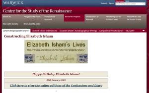 Constructing Elizabeth Isham