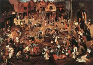 The Fight Between Carnival and Lent  Pieter Bruegel, 1559