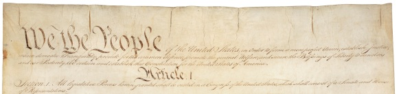 We the People - Constitution_of_the_United_States,_page_1