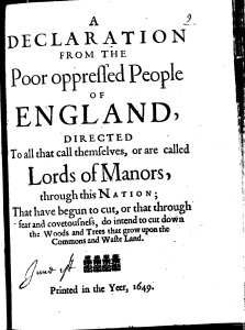 Winstanley (1649) The Poor oppressed People of England