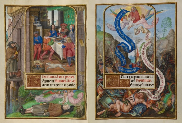 Anon, Lazarus and Dives, Spinola Book of Hours (c1510)
