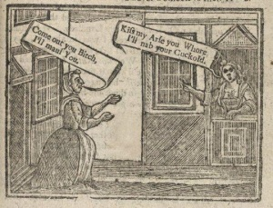 defamation woodcut from Stephanie McKellop