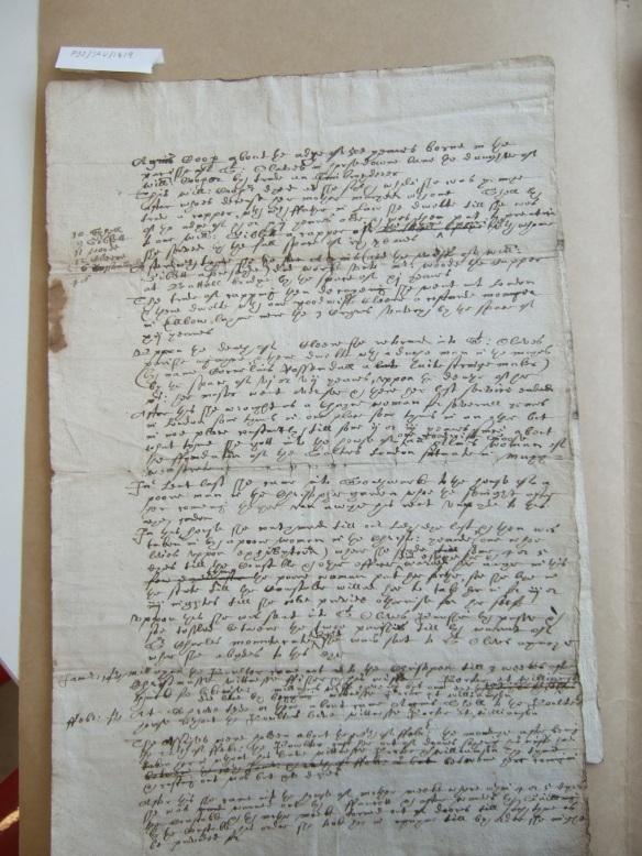 The start of Agnes Cooper's deposition, London Metropolitan Archives P92/SAV/1419
