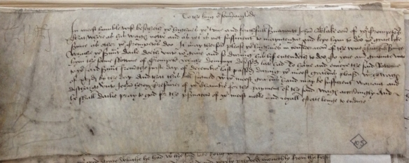 John Blanke's Petition to Henry VIII TNA, E101/217/2, no.150