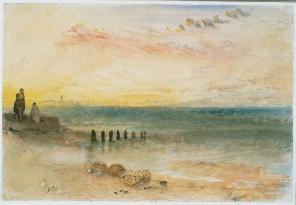 JWM Turner, Yarmouth, from near the Harbour's Mouth, c. 1840. Copyright Tate