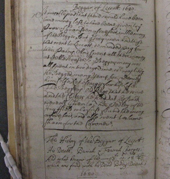 Huntingdonshire Archives, HP36/12/1, p. 112: Great Gransden Overseers' Account Book, 1664-1701
