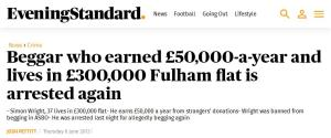 Rich beggar (2013) Evening Standard