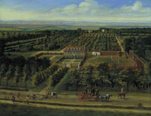 Jan Siberechts, View of a House and its Estate in Belsize, Middlesex (1696). The smoky capital is seen in the background, while in the foreground sits the kind of house where the rich could escape from the bustle, care, and dirtiness of the city.
