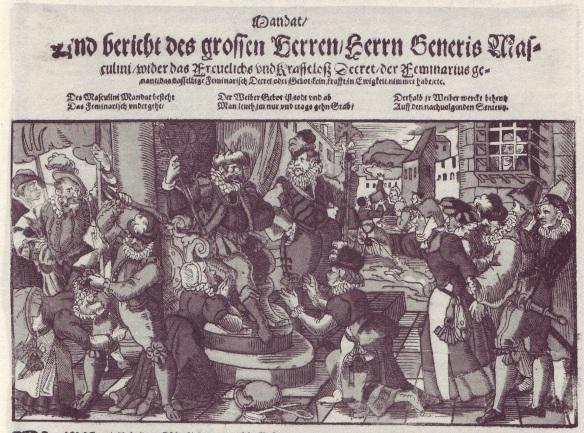 A late 16th-century satirical image of women supplicants (Christina Hofmann-Randall (éd.), Die Einblattdrucke der Universitätsbibliothek Erlangen-Nürnberg,  Erlangen: Universitätsbibliothek,  2003, p. 355)