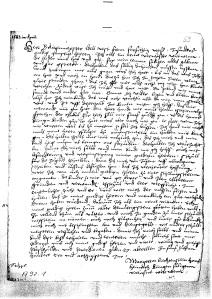 The petition of Margrete Liechtenstein (Staatsarchiv des Kantons Zürich, Zurich, Switzerland, Sig. A 92.1, No. 69)