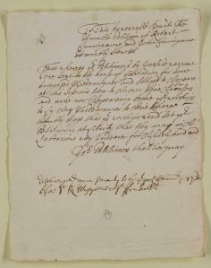 A simple, formulaic petition from two Cumberland prisoners for release from the House of Correction, 1688