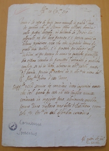 This petition shows the typical division in two parts: the narratio, where the circumstances of the petitioners are described, and the supplicatio, where the proper demand to the authorities is written. From Archivio di Stato di Milano, Sforzesco, Comuni, 80 (Soncino).