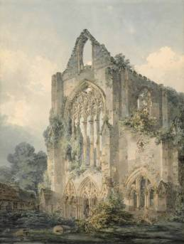 Tintern Abbey, West Front circa 1794 by Joseph Mallord William Turner 1775-1851