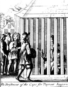 Cage for vagrant beggars (Seller, Punishments, 1678)