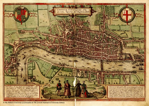 Braun and Hogenberg (1560-72) London map