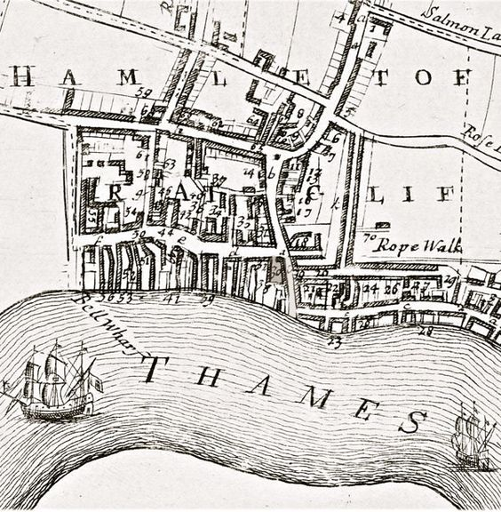 ratcliffe segment john strype 1720